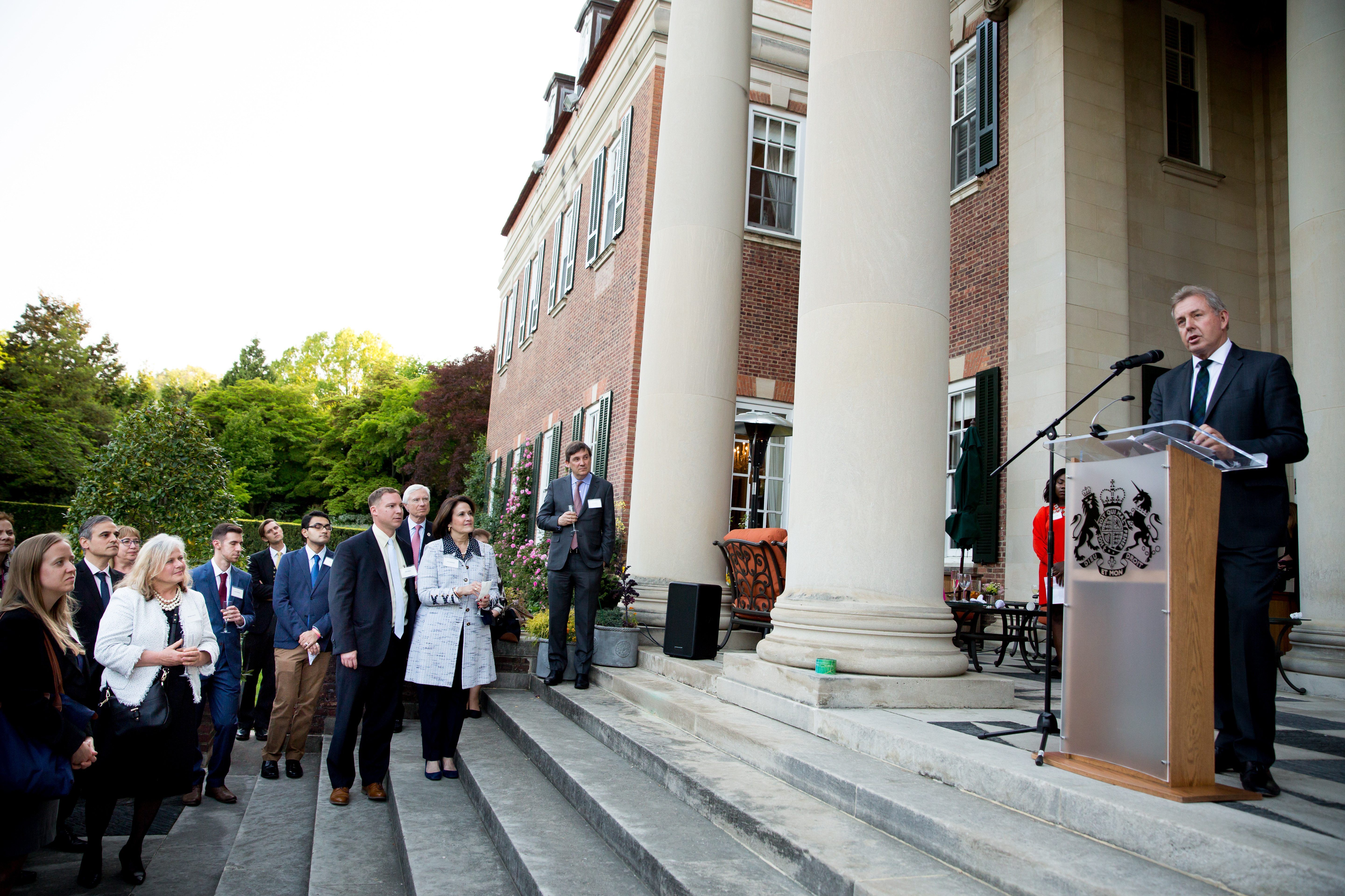 Ambassador Kim Darroch welcomed current Fulbrighters and alumni, along with representatives and supporters of Fulbright
